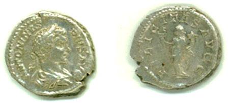 Silver Denarius Found 12/11/2006